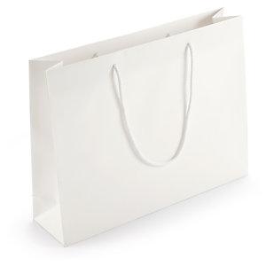 Sac papier pelliculé blanc mat spécial salon