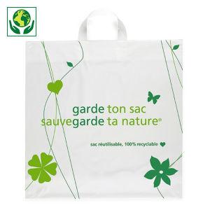 Sac plastique 80% recyclé à poignées souples