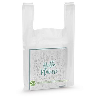 Sac plastique à bretelles 100% recyclé##Hemdchen-Tragetasche, 100% recycelt