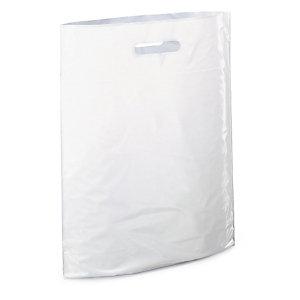 Sac plastique recyclé avec soufflet à poignées découpées RAJA
