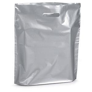 Sac plastique avec soufflet à poignées découpées RAJA