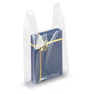 Sac plastique transparent à bretelles pour boîtes