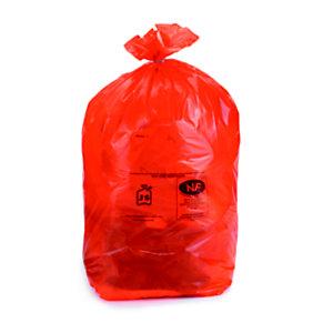Sac poubelle 110 L rouge pour tri sélectif en plastique recyclé 36 microns - diamètre 44.6 x H.110 cm