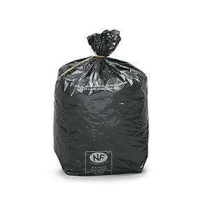 Sac poubelle 30 L noir pour déchets courants en plastique recyclé - 20 microns diamètre 31,8 x H.70 cm