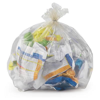 Sac poubelle transparent 100% recyclé
