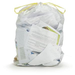 Sac poubelle transparent à liens coulissants