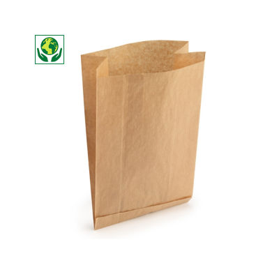 Sacchetti avana con soffietti in carta FSC