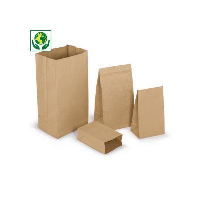 Sacchetti di carta avana 100% riciclato