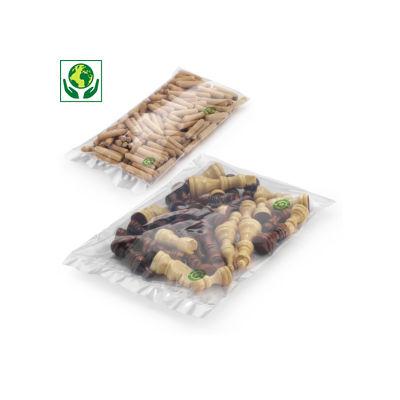 Sacchetti ecologici trasparenti 50 micron RAJA