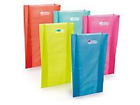 Sacchetti in plastica con manico a fagiolo colori assortiti
