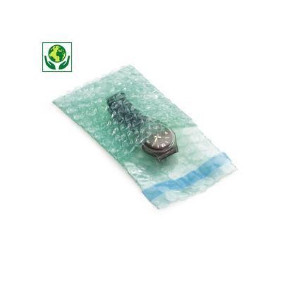 Sacchetti pluriball in plastica riciclata con chiusura adesiva RAJABUL Green