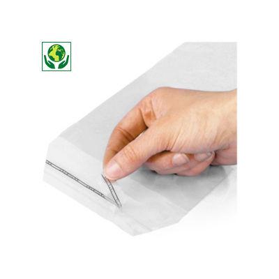 Sacchetti polietilene riciclato 50 micron con chiusura adesiva