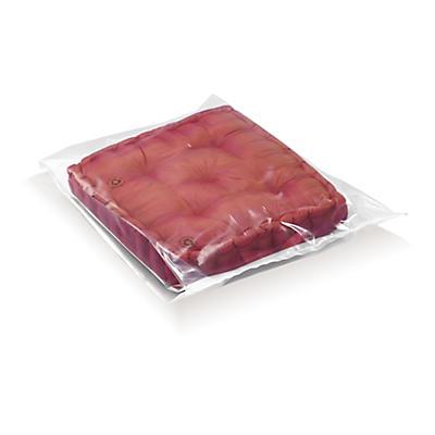 Sacchetti trasparenti con soffietti in plastica riciclata 100 micron