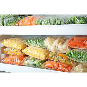 Sacchetto freezer per alimenti in polietilene, 20 x 30 cm, Trasparente (confezione 50 pezzi)