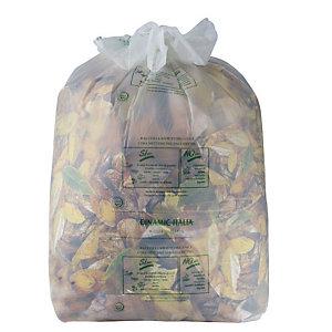 Sacchi biodegradabili - 30 litri - F.to 50 x 60 cm - Spessore 18 micron (confezione 15 pezzi)
