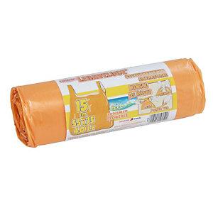 Sacchi extraforti con maniglie profumati - Colore arancio - Profumazione floreale - 40 litri - F.to 55 x 75 cm - Spessore 12 micron (confezione 15 pezzi)