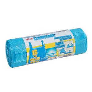Sacchi extraforti con maniglie profumati - Colore azzurro - Profumazione brezza marina - 40 litri - F.to 55 x 75 cm - Spessore 12 micron (confezione 15 pezzi)