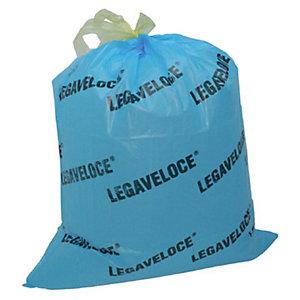 Sacchi extraforti con maniglie profumati - Colore azzurro - Profumazione Floreale - 30 litri - F.to 55 x 65 - Spessore 20 micron (confezione 15 pezzi)