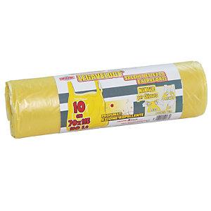 Sacchi extraforti con maniglie profumati - Colore giallo - 110 litri - F.to 70 x 115 cm - Spessore 13 micron (confezione 10 pezzi)