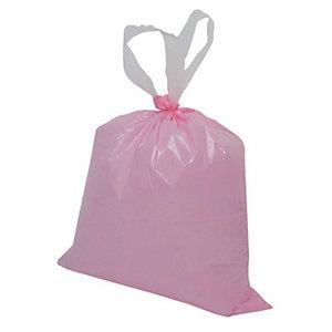 Sacchi extraforti con maniglie profumati - Colore rosa - Profumazione Talco - 10 litri - F.to 35 x 40 - Spessore 25 micron (confezione 15 pezzi)