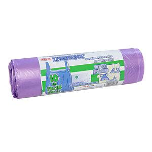 Sacchi extraforti con maniglie profumati - Colore viola - 110 litri - F.to 70 x 115 cm - Spessore 13 micron (confezione 10 pezzi)