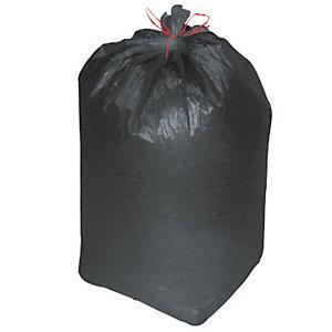 Sacchi nettezza urbana con prestrappo - Nero - 110 litri - F.to 70 x 110 cm - Spessore 14 micron (confezione 10 pezzi)