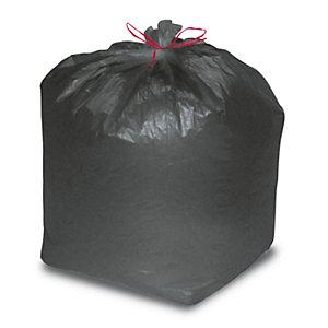 Sacchi nettezza urbana con prestrappo - Nero - 25 litri - F.to 50 x 60 cm - Spessore 10 micron (confezione 20 pezzi)