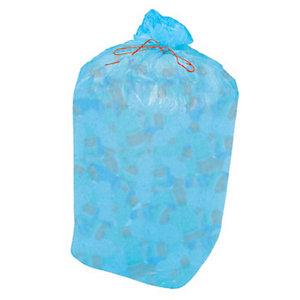 Sacchi nettezza urbana per raccolta differenziata - Colore blu trasparente - 110 litri - F.to 70 x 110 cm - Spessore 15 micron (confezione 10 pezzi)