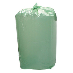 Sacchi profumati per la nettezza urbana - Colore Verde - Profumo Limone - 110 litri - Formato cm 70 x 110 - Spessore 18 micron (confezione 10 pezzi)
