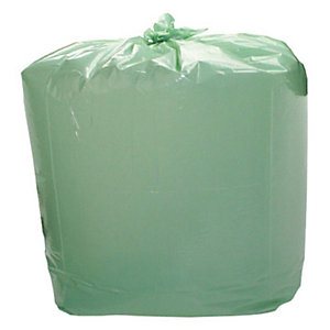 Sacchi profumati per la nettezza urbana - Colore Verde - Profumo Limone - 25 litri - Formato cm 50 x 60 - Spessore 13 micron (confezione 20 pezzi)