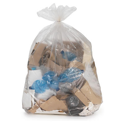 Sacchi spazzatura trasparenti grande capacità