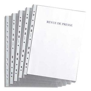 AUTRE Sachet de 100 pochettes perforées en polypropylène 4,5/100e grainé, perforation 11 trous