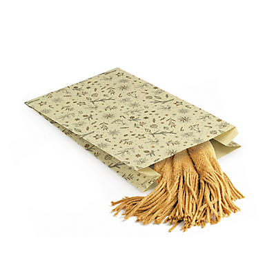 Sachet cadeau Noël en papier à base d'herbe##Geschenkzakje van graspapier Kerst
