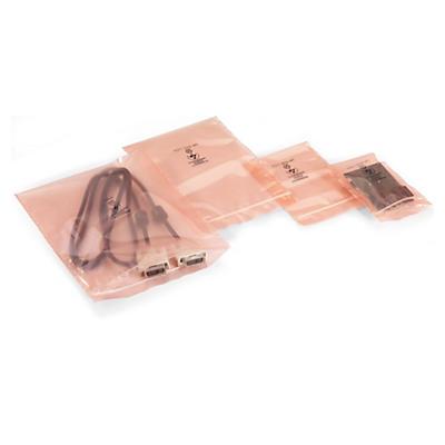 Sachet plastique antistatique à fermeture zip##Antistatischer Beutel mit Druckverschluss