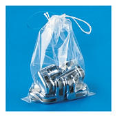 Sachet plastique à cordelettes