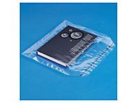 Sachet plastique à fermeture adhésive 50 microns##Plastic zak met zelfklevende sluiting, polyethyleen 50 micron