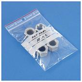 Sachet plastique à fermeture zip à bandes blanches 100 microns RAJAGRIP Super