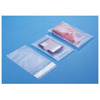 Sachet plastique givré à fermeture adhésive