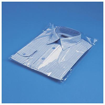 Sachet plastique haute brillance à soufflets et à fermeture adhésive 50 microns