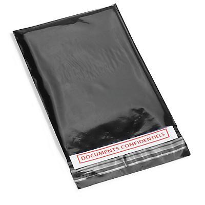 Sachet plastique noir opaque à fermeture adhésive