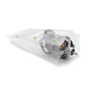 Sachet plastique recyclé à soufflets transparent 150 microns RAJA