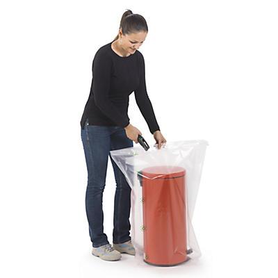 Sachet plastique à soufflets 100 microns, 100% recyclé RAJA