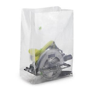 Sachet plastique à soufflets transparent 100 microns RAJA