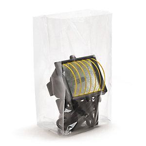 Sachet plastique à soufflets transparent 30 microns RAJA