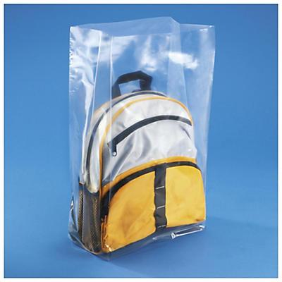 Sachet plastique à soufflets transparent 50 microns RAJABAG