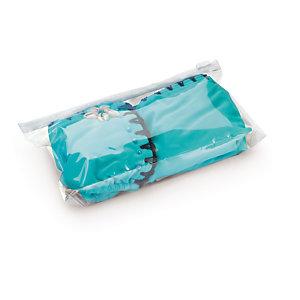 Sachet plastique à soufflets transparent haute brillance à curseur