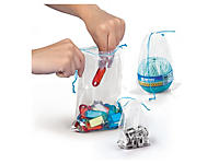 Sachet plastique transparent à cordelettes