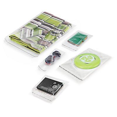 Sachet plastique transparent à fermeture adhésive