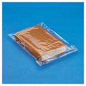 Sachet plastique transparent haute brillance à fermeture adhésive permanente