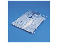 Sachet plastique transparent haute brillance à soufflet à fermeture adhésive